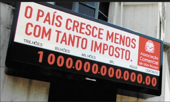 Impostômetro vai chegar nesta 6ª à marca de R$ 100 bilhões em 2015, diz ACSP