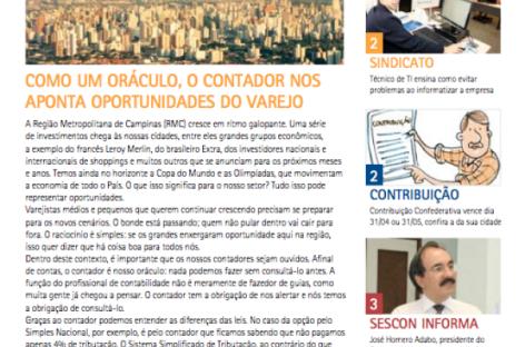 O boletim Nosso Varejo Contador já está disponível no site