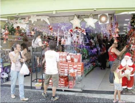 Esquema especial de abertura do comércio para o Natal começa dia 1º