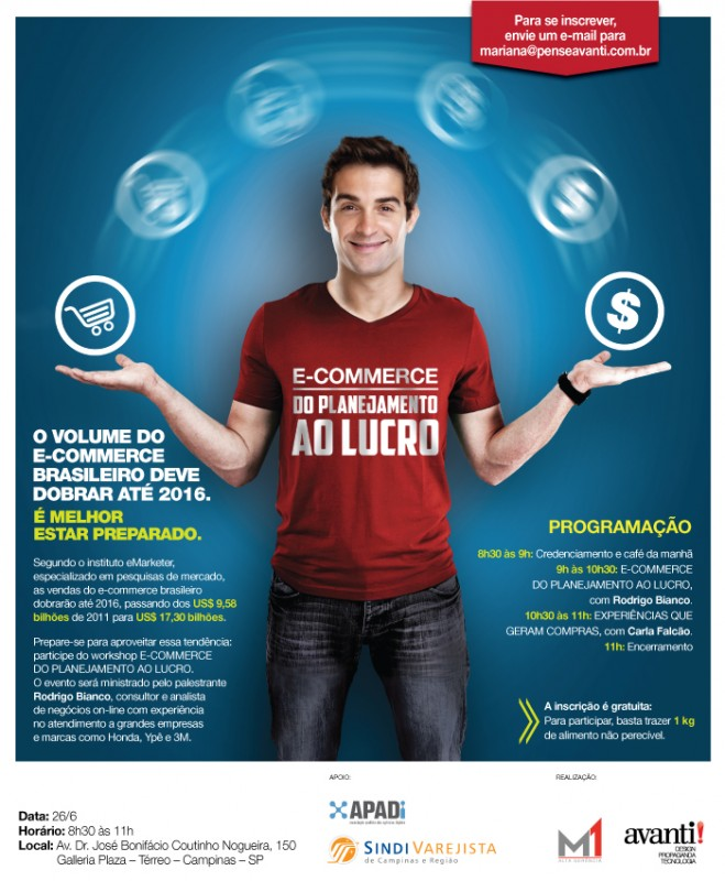 APADi faz palestra sobre e-commerce dia 26/06 em Campinas; doe 1kg de alimento