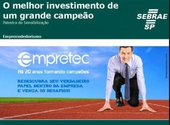 SE LIGA: empresários terão palestra gratuita do Empretec, dia 23