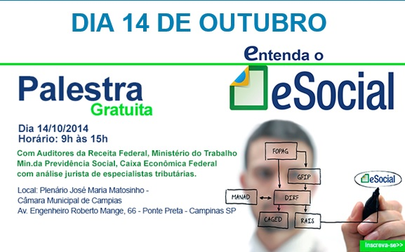 2ª palestra sobre eSocial na Câmara acontece em outubro