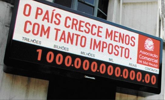 Brasileiros já pagaram R$ 1,1 trilhão em impostos em 2014
