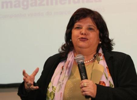 Vendas de TVs no varejo vão bem, diz Luiza Trajano em São Paulo