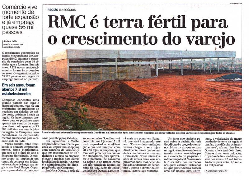 Varejo vive momento de expansão na RMC