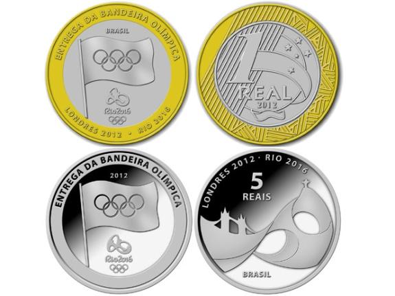 BC lançará moedas de R$ 1 e R$ 5 em homenagem às Olimpíadas de 2016