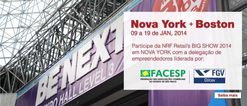 Sebrae dá subsídio para NRF 2014 em NY. Não perca a oportunidade