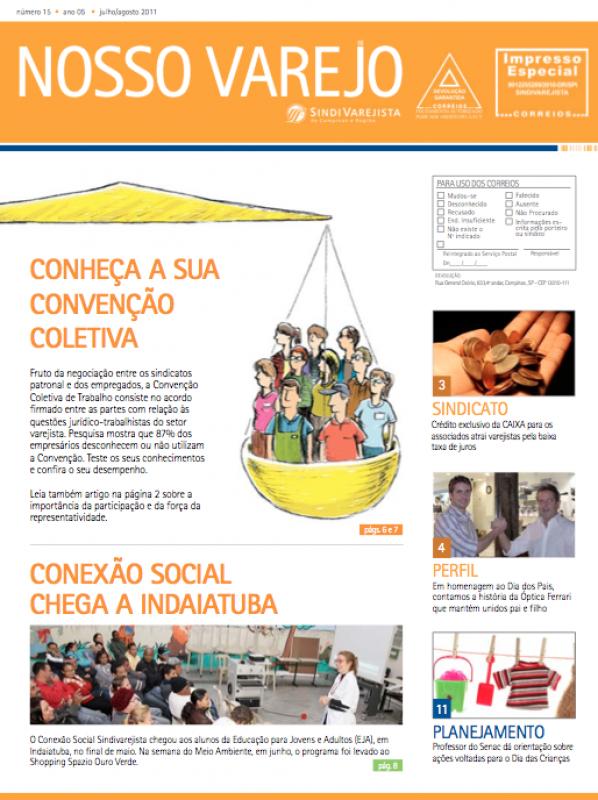 Edição do Nosso Varejo de julho/agosto destaca a Convenção Coletiva
