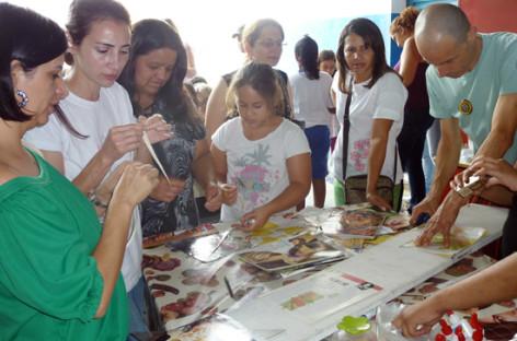 Oficina com materiais recicláveis encerra a Semana Conexão Social Sindivarejista