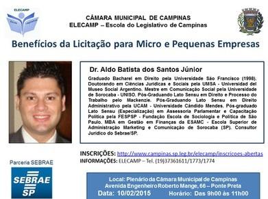 Elecamp promove palestra sobre Benefícios da Licitação para Micro e Pequenas