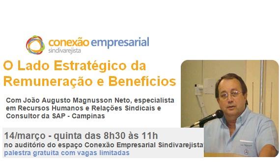 'Lado Estratégico da Remuneração e Benefícios' é tema de palestra
