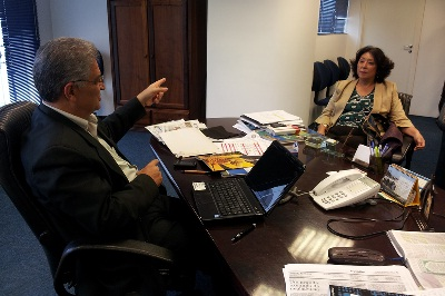 Presidente do Sindivarejista se reúne com Campos Filho
