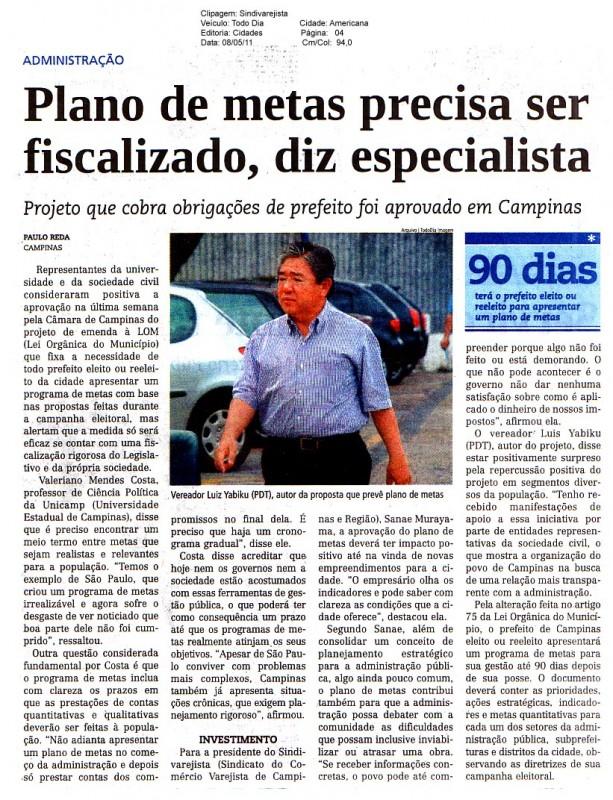 Jornal Todo Dia entrevista Sindivarejista sobre projeto aprovado pela Câmara de Campinas