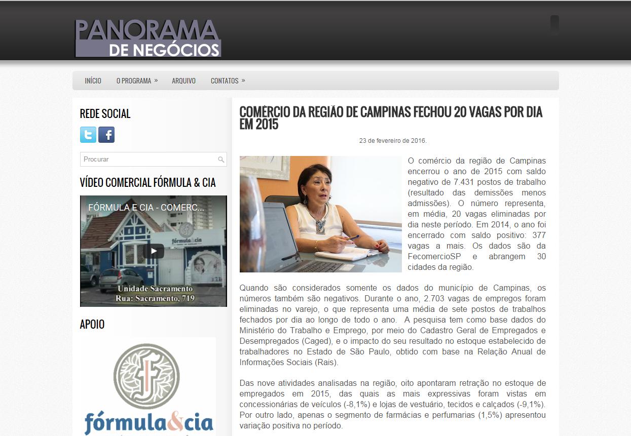 Panorama de Negócios publica reportagem sobre demissões