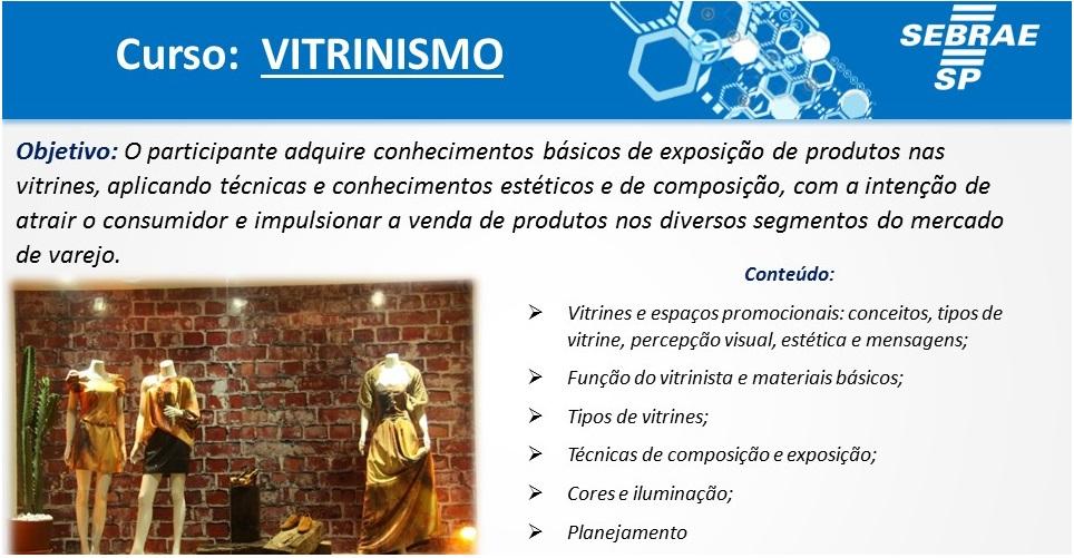 Sebrae Campinas faz curso de vitrinismo para varejistas dia 15