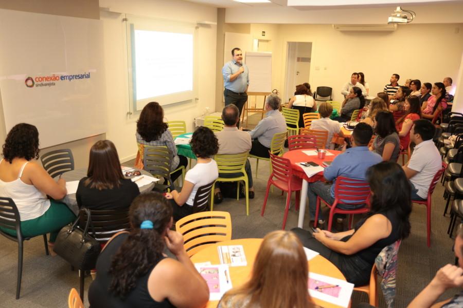 Participantes no 1º encontro do Gestão de RH, em março. Fotos: Adriano Rosa