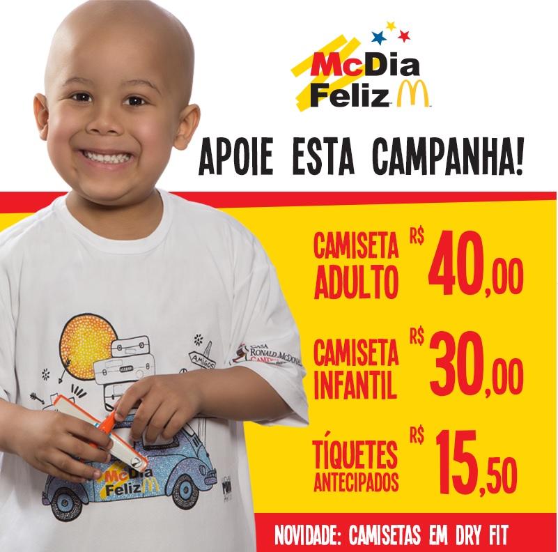 Tíquetes e produtos do McDia Feliz estão à venda no SindiVarejista. Participe!