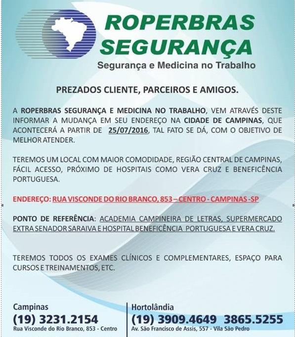 Roperbras tem novo endereço em Campinas