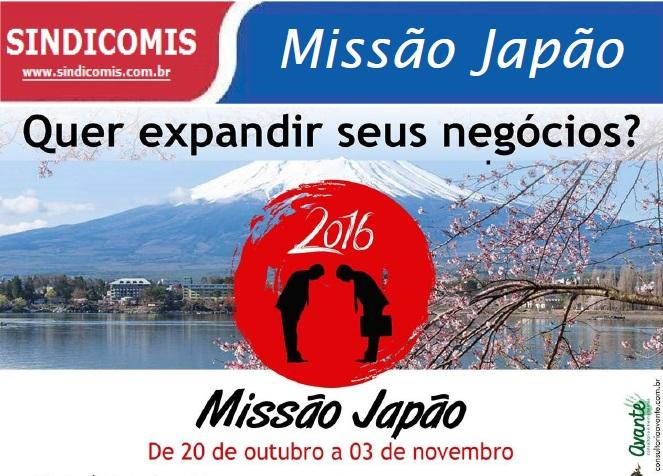 Sindicomis promove Missão Japão 2016 de 20 de outubro a 3 de novembro