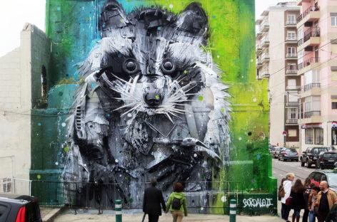 Artista cria esculturas de animais usando materiais descartados