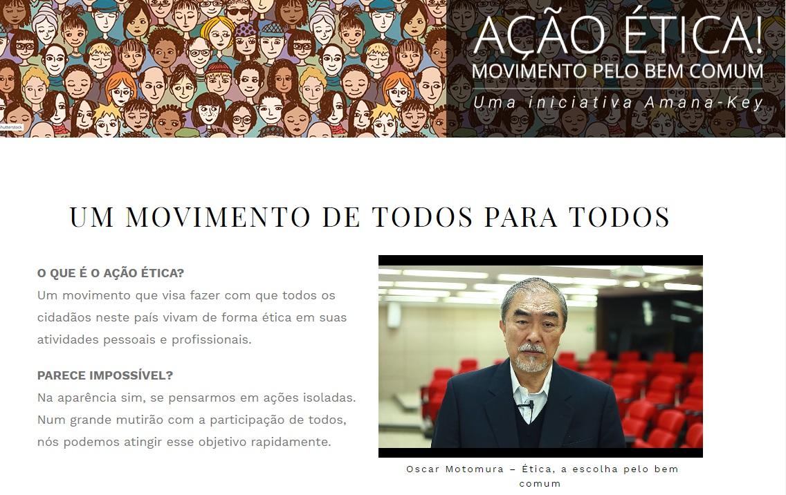 Movimento Ação Ética! traz diálogo com Oscar Motomura