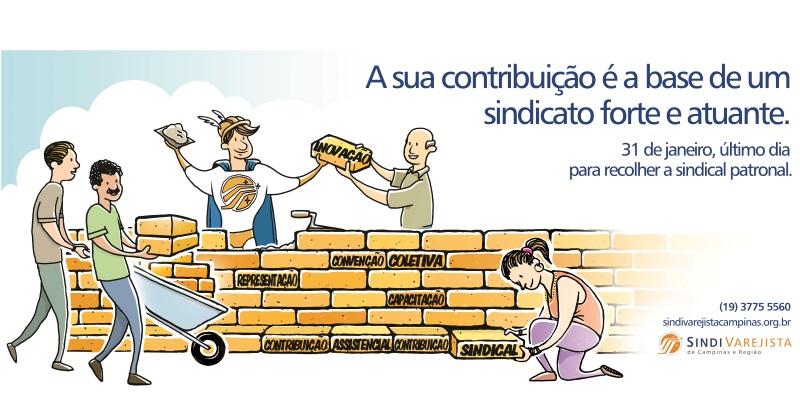 Contribuição Patronal Sindical vence em 31 de janeiro