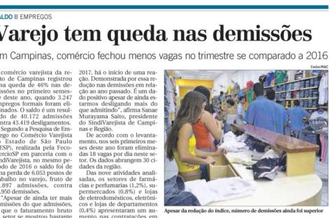 CORREIO POPULAR – Emprego primeiro semestre