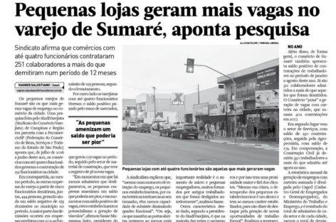 TRIBUNA DE INDAIÁ E TRIBUNA LIBERAL: emprego nas pequenas empresas