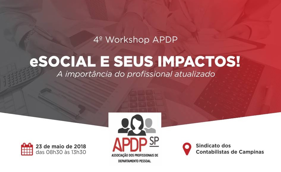 APDP fará workshop sobre mudanças do eSocial no RH dia 23