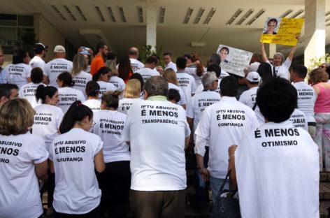 """Em apoio ao """"IPTU Justo"""", SindiVarejista participou de ato na última segunda"""