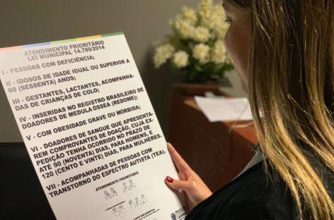 SindiVarejista disponibiliza novas placas de atendimento prioritário para Campinas