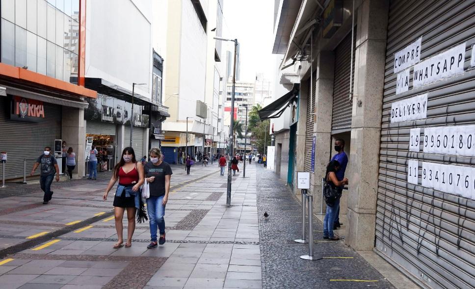 Comércio da região de Campinas terá que seguir fechado por mais uma semana