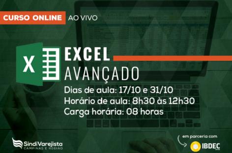 """SindiVarejista promove curso on-line de """"Excel Avançado"""""""
