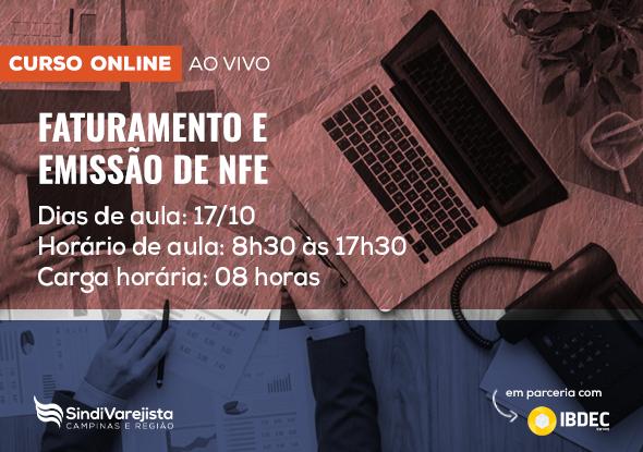 """Curso on-line de """"Faturamento e Emissão de NFe"""""""