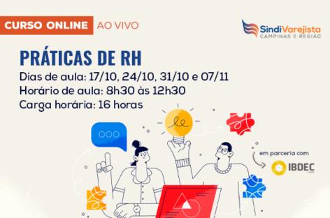 SindiVarejista promove curso on-line: Práticas de RH