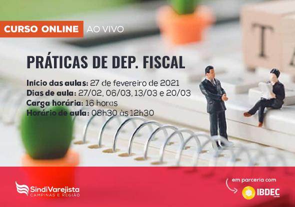 "SindiVarejista e Ibdec promovem curso on-line de ""Práticas de Dep. Fiscal"""